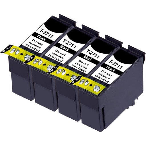 Compatible Epson WF-7720 Black T2711XL Multipack High Capacity Ink Cartridges Pack of 4