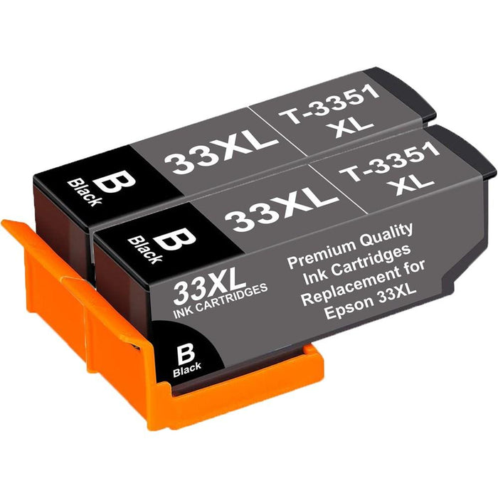 Compatible Epson 2x Black XP-630 Ink Cartridges (T3351XL)