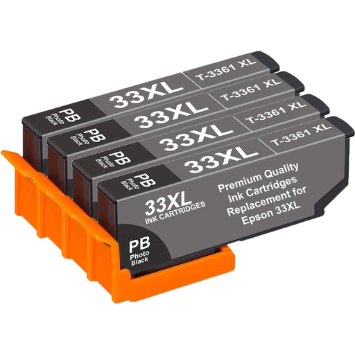 Compatible Epson 33XL Photo Black T3361XL Ink Cartridges Pack of 4