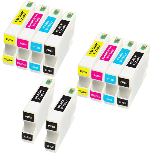 Compatible Epson 2 Sets + 2 black WF-5110DW ink cartridges (79xl)