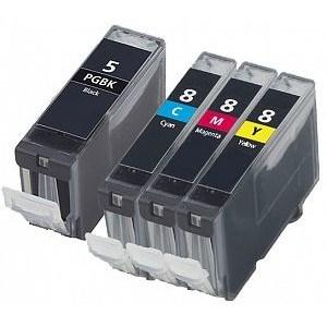 Compatible Canon 1 Set of 4 iP3500 Ink Cartridges (PGi-5/CLi-8)
