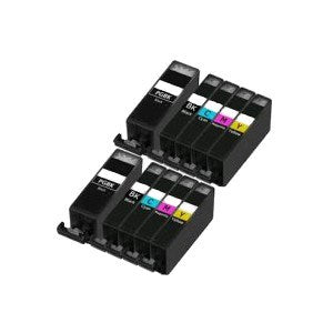 Compatible Canon PGI-520/CLI-521 - Black / Cyan / Magenta / Yellow / Black Large - Pack of 10 - 2 Sets