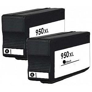 Compatible HP 2 Black 8620 Ink Cartridges (950XL)