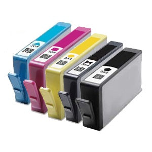 Compatible HP 364XL High Capacity Multipack - Black / Photo Black / Cyan / Magenta / Yellow - Pack of 5 - 1 Set