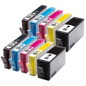 Compatible HP 364XL High Capacity Multipack - Black / Photo Black / Cyan / Magenta / Yellow - Pack of 10 - 2 Set