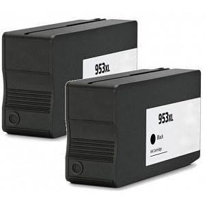 Compatible HP 2 Black 8718 Ink Cartridges (953XL BK)