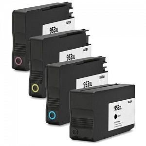 Compatible HP 953XL High Capacity - Black / Cyan / Magenta / Yellow - Pack of 4 - 1 Set