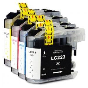 Compatible Brother 1 Set of 4 MFC-J5625DW ink cartridges (LC223 XL)