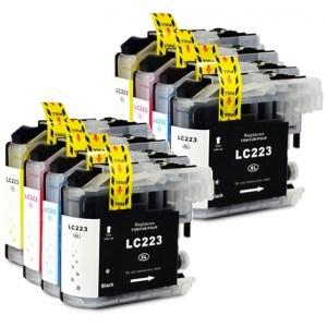 Compatible Brother 2 Sets of 4 MFC-J5625DW ink cartridges (LC223 XL)