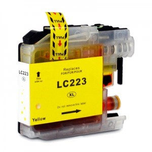 Compatible Brother LC223 High Capacity Ink Cartridge - 1 Yellow
