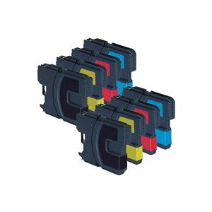 Compatible Brother LC980 - Black / Cyan / Magenta / Yellow - Pack of 8 - 2 Sets