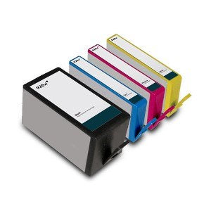 Compatible HP 920XL High Capacity - Black / Cyan / Magenta / Yellow - Pack of 4 - 1 Set