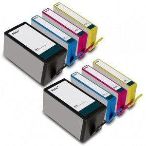 Compatible HP 920XL High Capacity - Black / Cyan / Magenta / Yellow - Pack of 8 - 2 Set