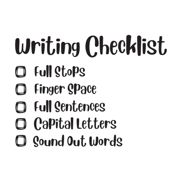 Writing Checklist - The Teaching Tools