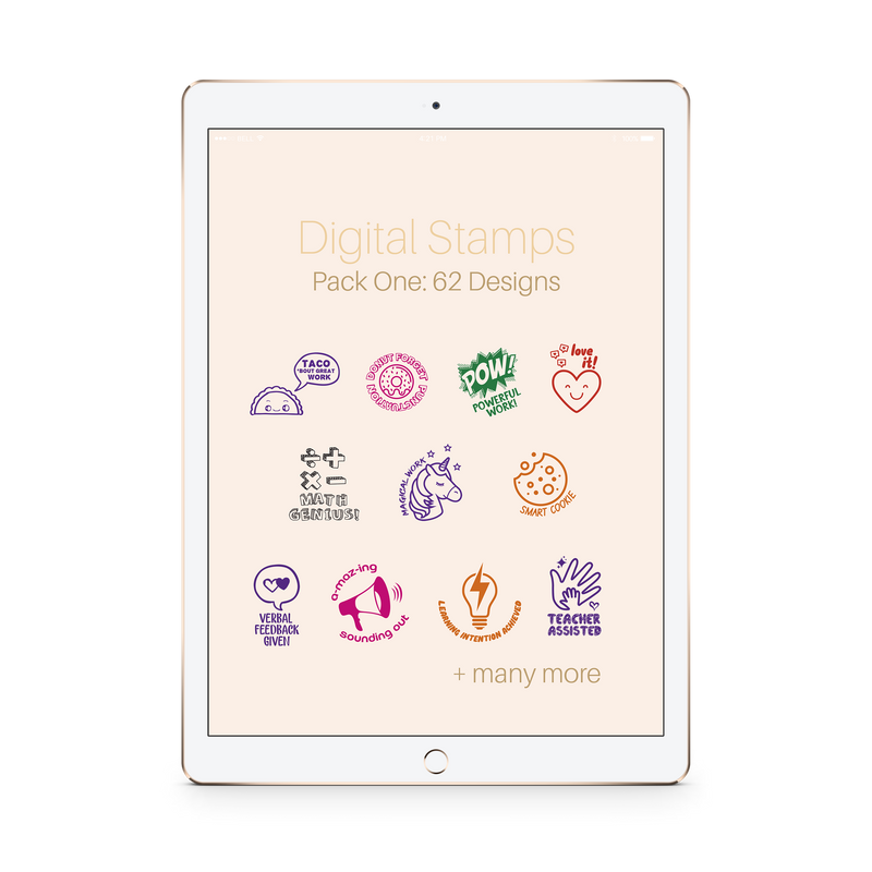 Digital Stamps Pack One: 62 Designs - The Teaching Tools Teacher Digital Stamps