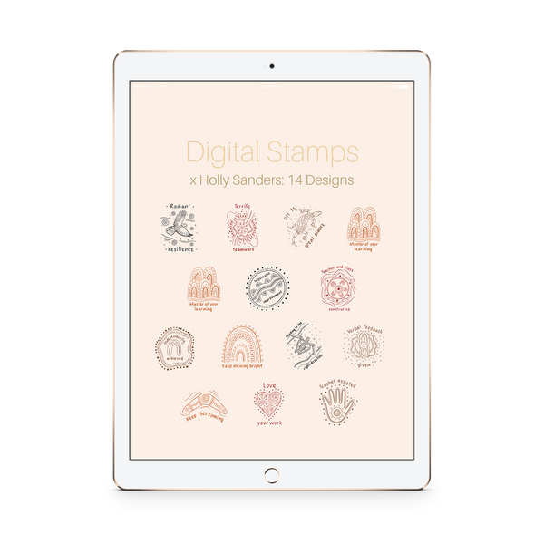 Digital Stamps Pack x Holly Sanders: 14 Designs - The Teaching Tools