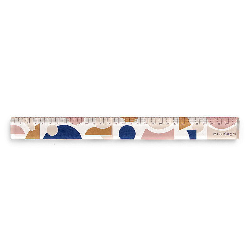 Milligram: Spenceroni Pattern Acrylic Ruler - The Teaching Tools Teacher Stamps