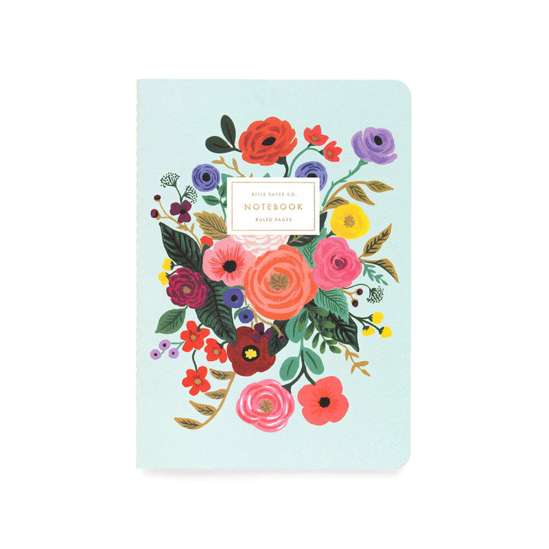Rifle Paper Co: Garden Party Stitched Notebook (3 Pack) - The Teaching Tools Teacher Stamps