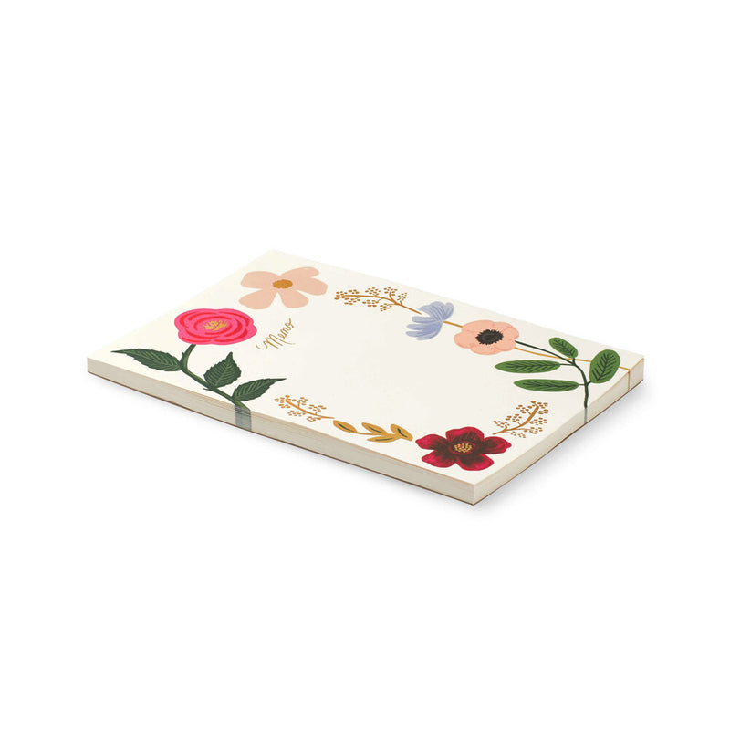 Rifle Paper Co: Wildflower Large Memo Notepad - The Teaching Tools