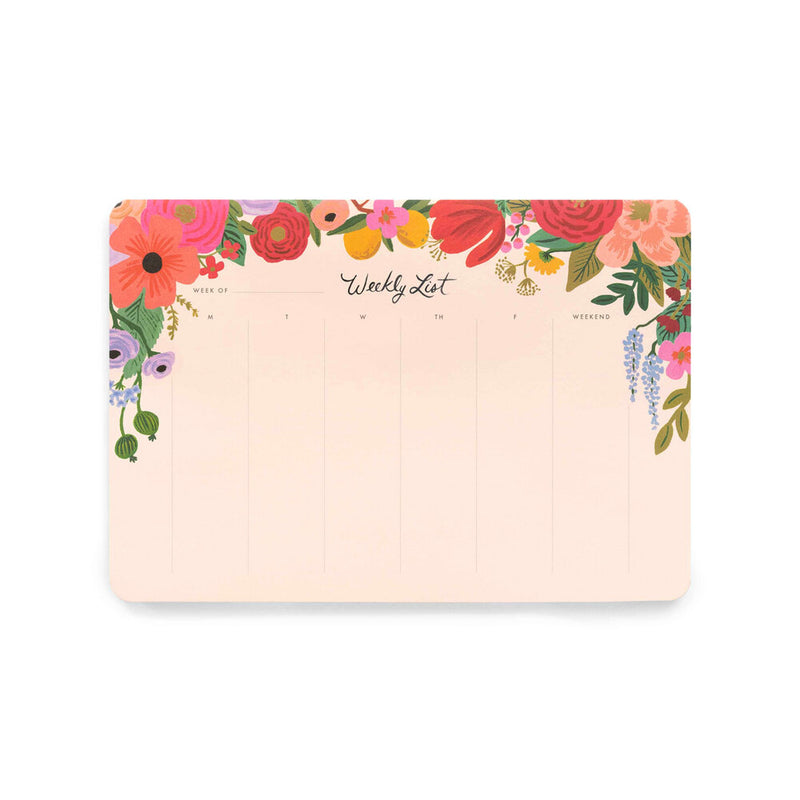 Rifle Paper Co: Weekly Desk Pad - Garden Party - The Teaching Tools Teacher Stamps