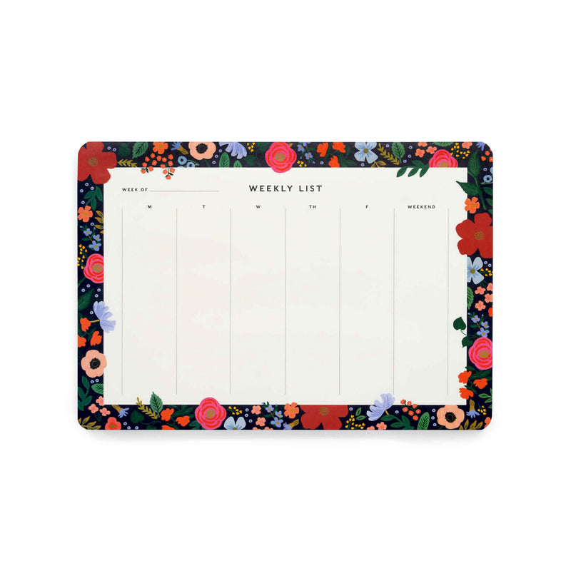Rifle Paper Co: Weekly Desk Pad - Wild Rose - The Teaching Tools