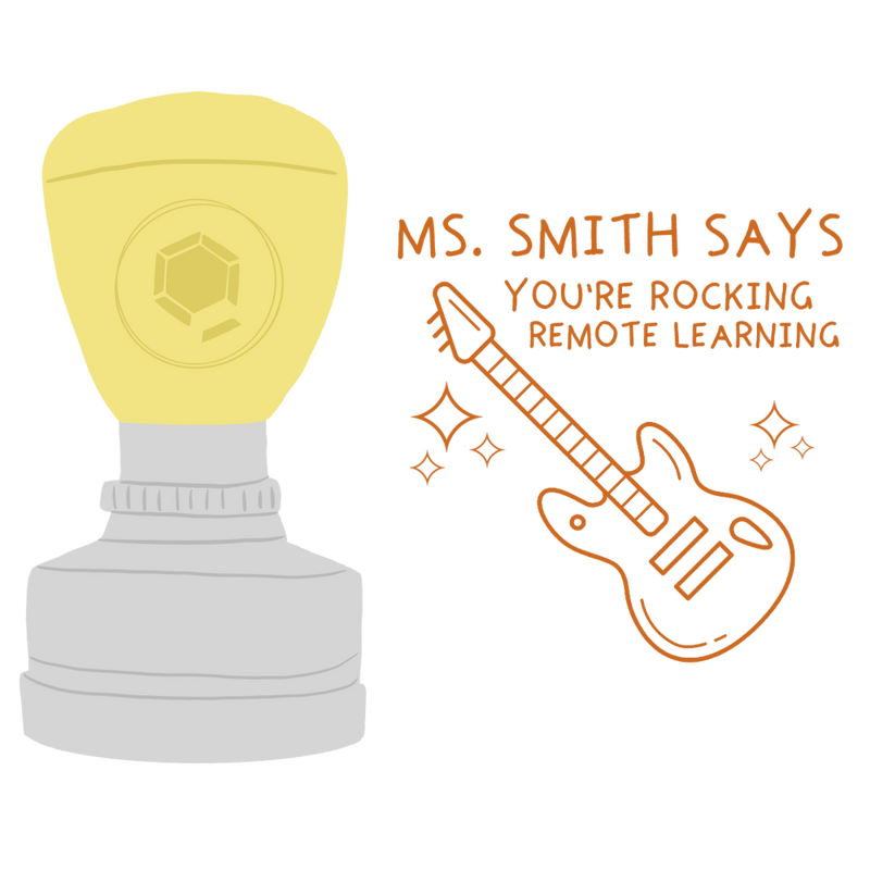Personalised Digital Stamp: Remote Learning Rockstar - The Teaching Tools Teacher Stamps