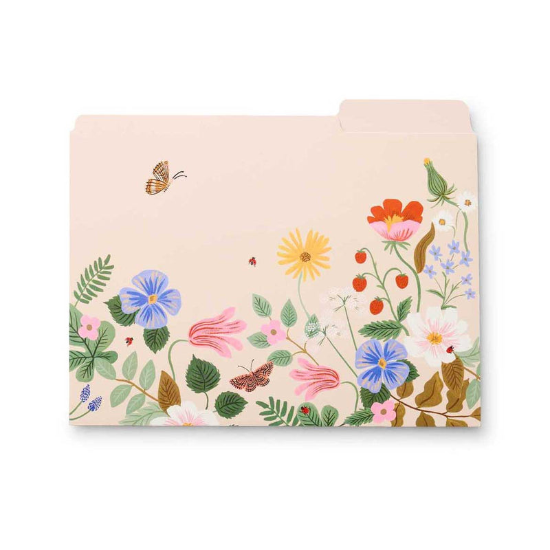Rifle Paper Co: Strawberry Fields File Folder (6 Pack) - The Teaching Tools