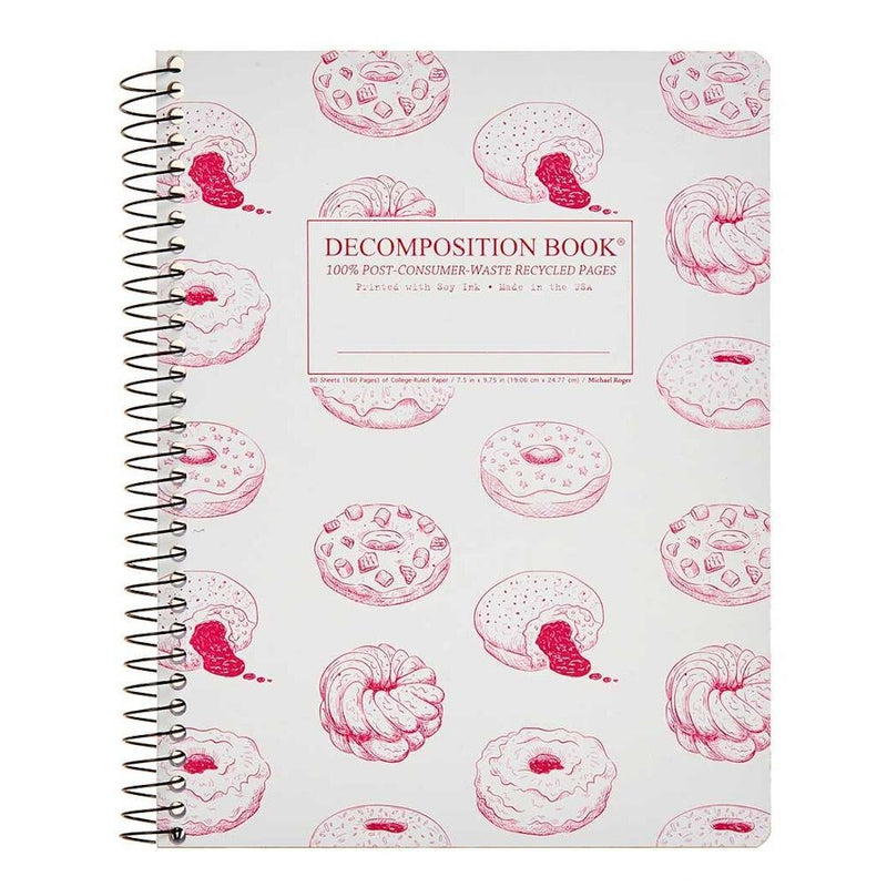 Decomposition: Donut Time Large Spiral Notebook - The Teaching Tools