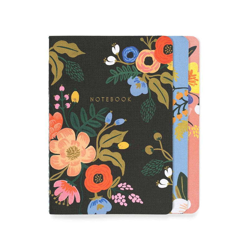 Rifle Paper Co: Lively Floral Stitched Notebook (3 Pack) - The Teaching Tools Teacher Stamps