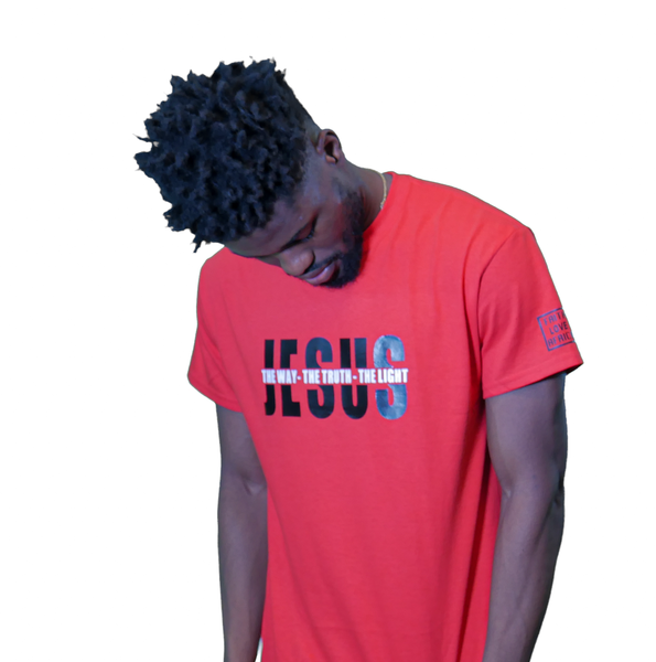Jesus: The Way The Truth The Light- Red Tee