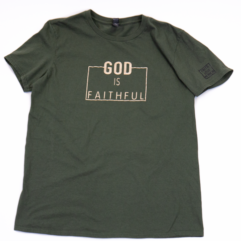 God Is Faithful- City Green Tee