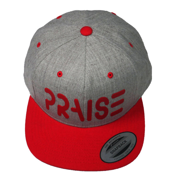 PRAISE - Heather Red Snapback
