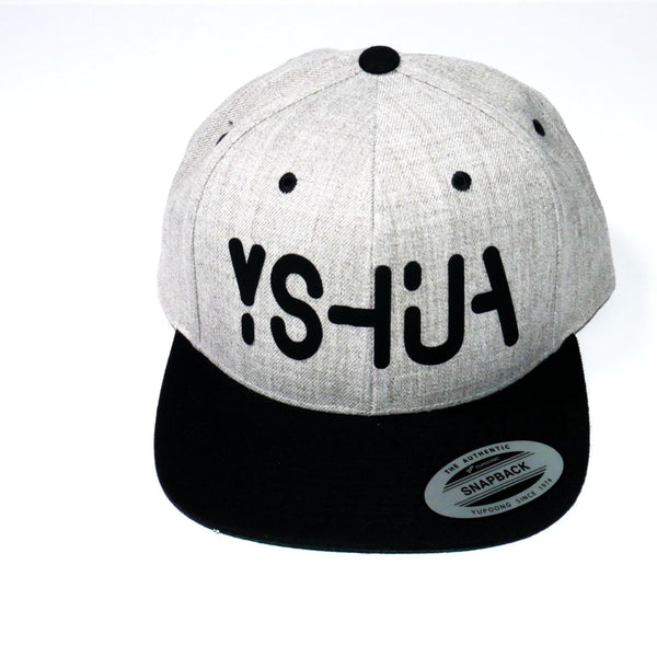 YSHUA - Heather Black Snapback