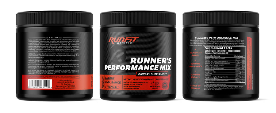 Runner's Performance Mix - RunFit Nutrition - Running Endurance
