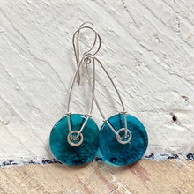 Load image into Gallery viewer, Geometric Earrings - Teal