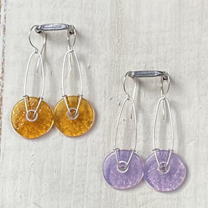 Geometric Earrings - Lilac