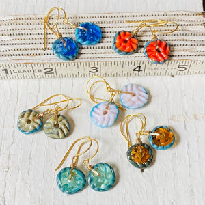 Mini Art Glass Dangles - Vintage Ivory