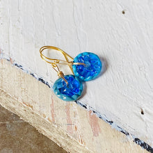 Load image into Gallery viewer, Mini Art Glass Dangles - Blue