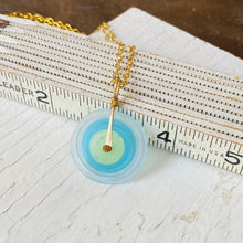 Load image into Gallery viewer, Matte Blue and Gold Chain Necklace