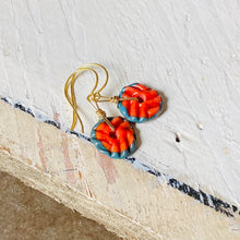 Load image into Gallery viewer, Mini Art Glass Dangles - Red Coral