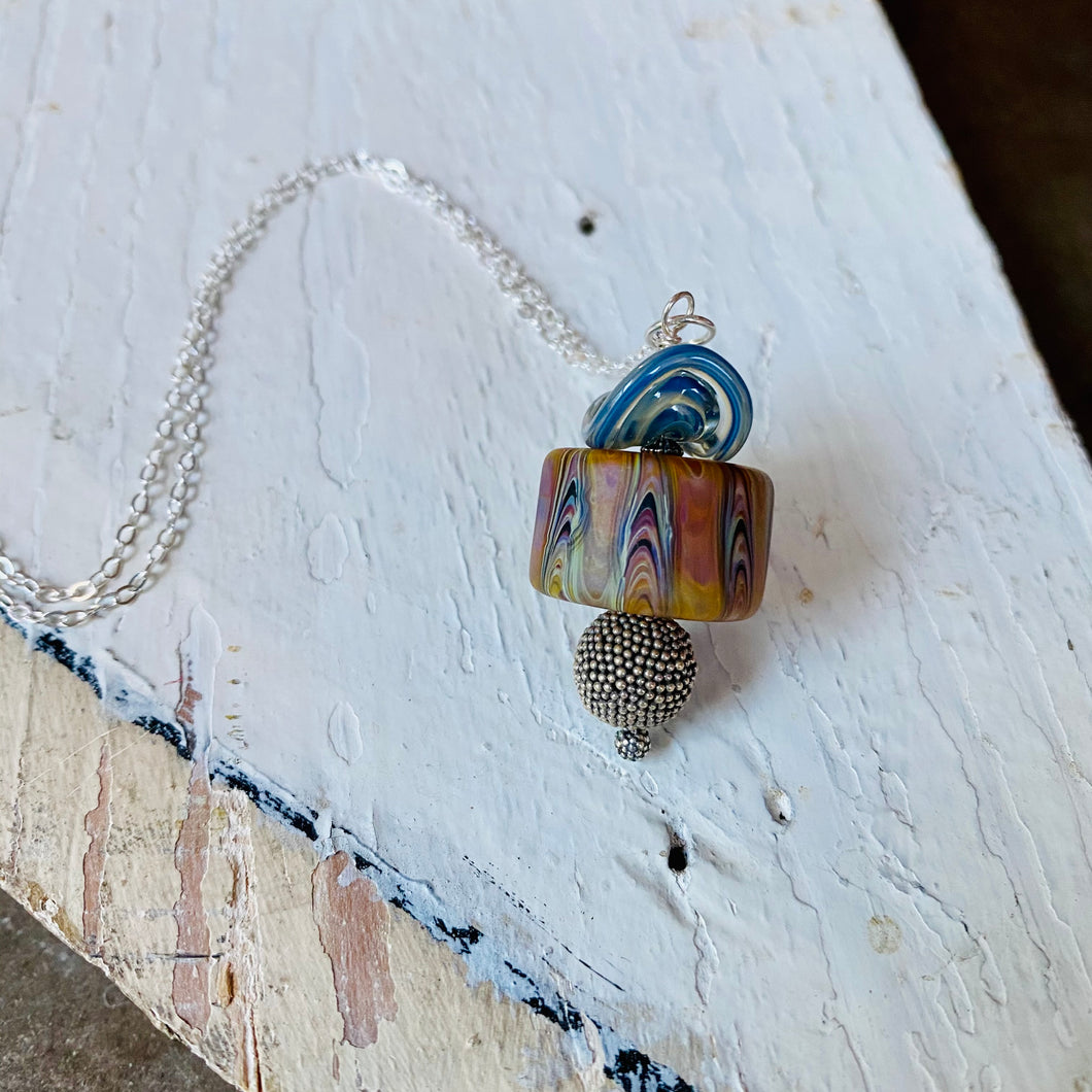 Mixed Media Pendant Necklace