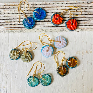 Mini Art Glass Dangles - Blue