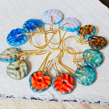 Load image into Gallery viewer, Mini Art Glass Dangles - Honey