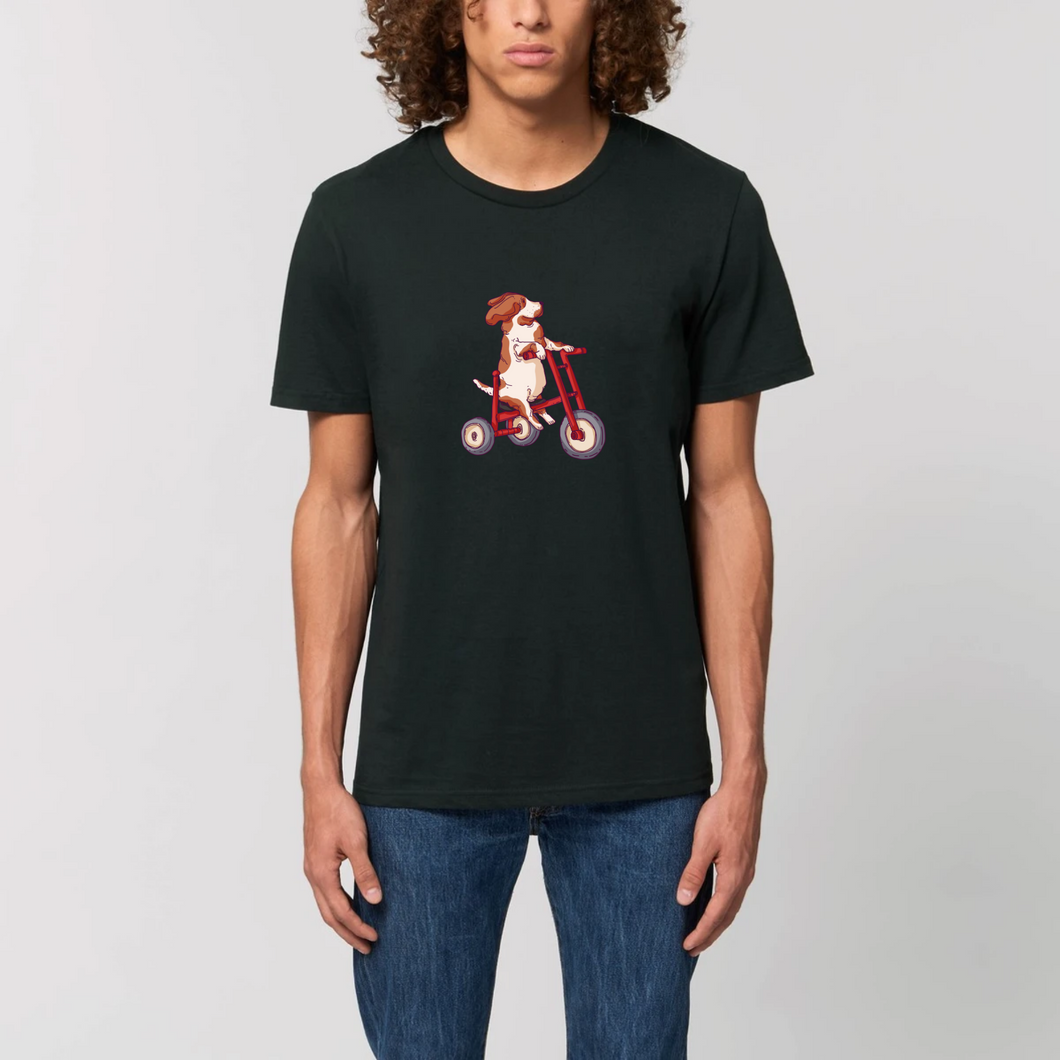 Three Wheeling Organic Basset Tee
