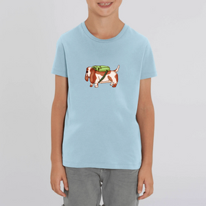 Kids Backpack Basset Organic Tee