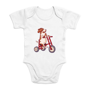 Bicycling Basset Organic Bodysuit