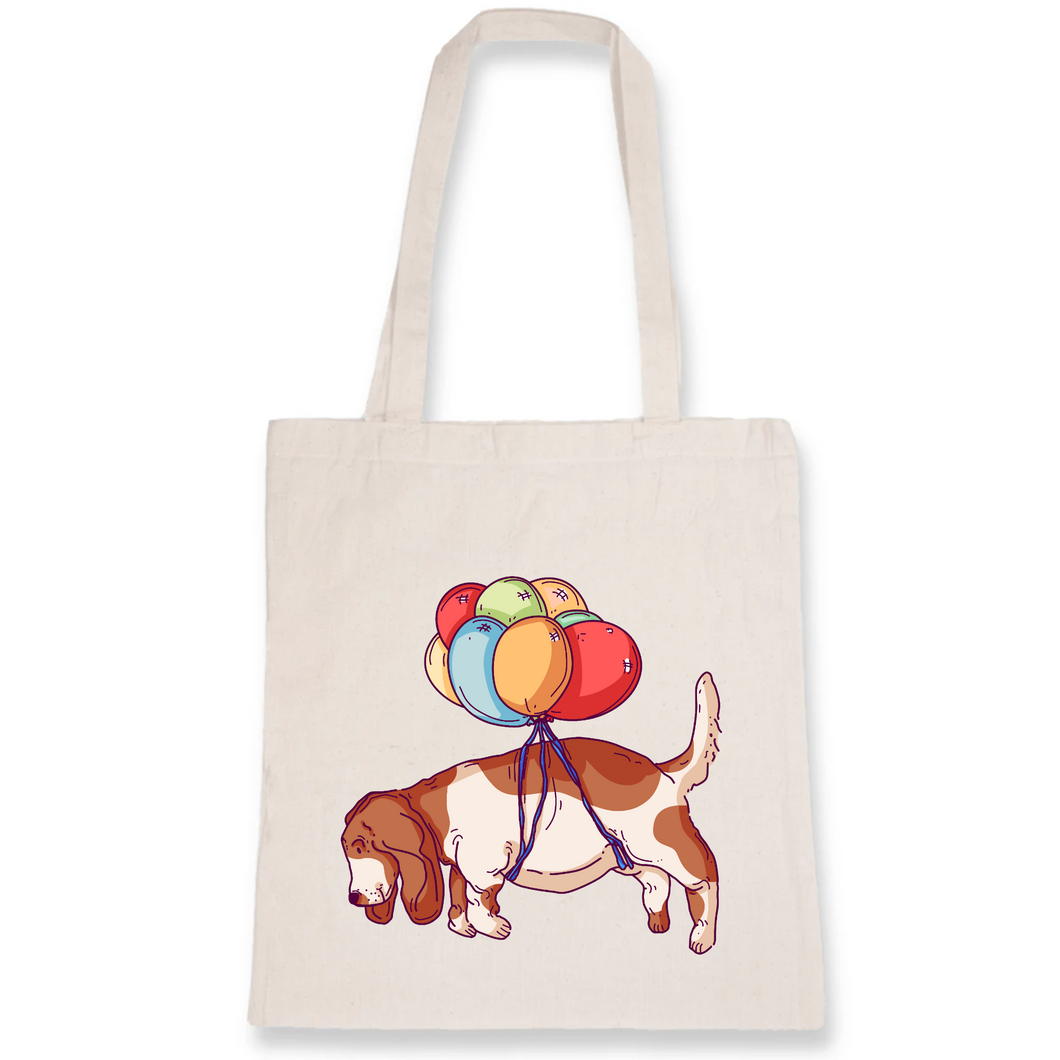 Fly Away Basset Tote Bag