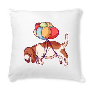 Flying Away Basset Cushion