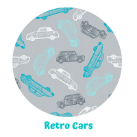 Cobertor PUL SIO Unitalla SLIM Little Birds - Retro Cars