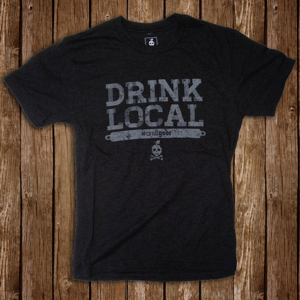 DRINK LOCAL, Men's Tee from CraftGeer